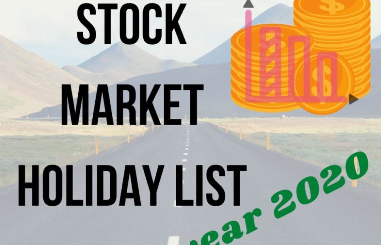 stock market holiday list 2020